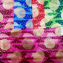 Satin Geo Print With Foil Fabrics