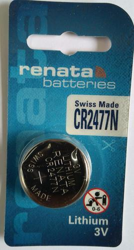 Coin Shape Renata CR 2477N Battery, for Industrial applications, 3V