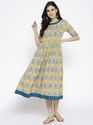 Half Sleeves Cotton A-line Kurta, Size: 38, 40 And 42