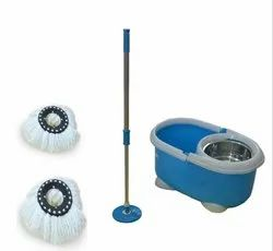 Spin Mop And Bucket Set Free 2 Spare Head