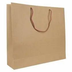 Brown Biodegradable Kraft Paper Bag, For Shopping, Capacity: 7 Kg