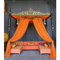 Fiber and Wood Stylish Wedding Canopy