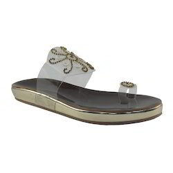 White Women Designer Slippers, Size: 36-41