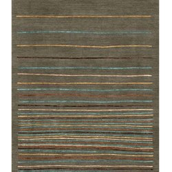 Stripe Printed Rectangular Cotton Dari, Size: 5x8 feet