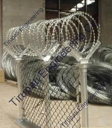 Chain Link And Concertina Coil Fencing