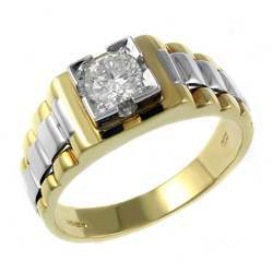 Gold Gents Solitaire Rings