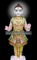 Color Coated Marble Swaminarayan Statue