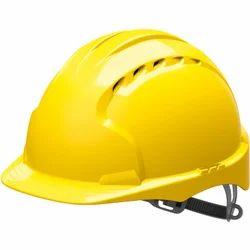 Yellow PVC Safety Helmet