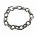 Pave Diamond Link Silver Bracelets