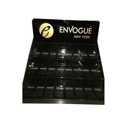 Black Rectangular Acrylic Nail Polish Dispenser, For Nail Polish Dispensing
