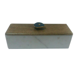 Marble & Wooden Boxes with Agate Knob