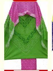 Cutwork Bandhani Dress Material