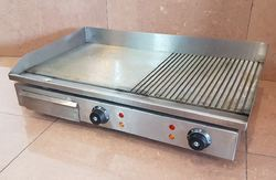 Half Grooved Electric Griddle Plate