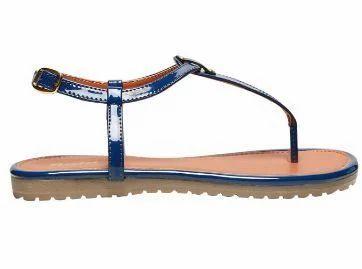Bata Blue Flat Sandals For Women F561941300