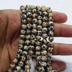 Dalmatian Plain Round Beads Mala