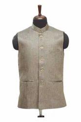 WC00038-309 Brown Jute Waistcoat