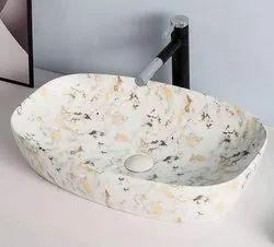 Marble Design Ceramic Wash Basin