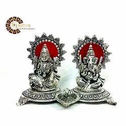 Aluminium Lakshmi And Ganesh Statue
