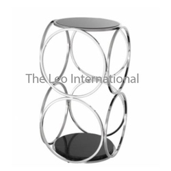 Decorative Stool Stainless Steel Metal Frame Designer Shape