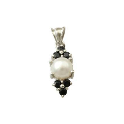 Pearl pendant design with black onyx at rs 1273 piece sterling pearl pendant design with black onyx aloadofball Gallery