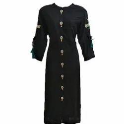 Ladies Cotton Full Sleeve Designer Kurtis, Size: M