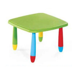 Red & Blue Square Plastic Table, Size: 27.5 x 27.5 x 18.5 inch
