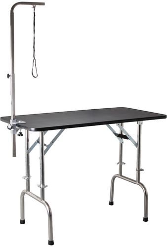 Height Adjule Folding Table W Telescoping Legs For Pets Abk