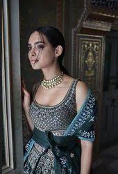 Galaxy Malai Satin Desinger Lehenga Designer 2kg Wedding Bridal Wear