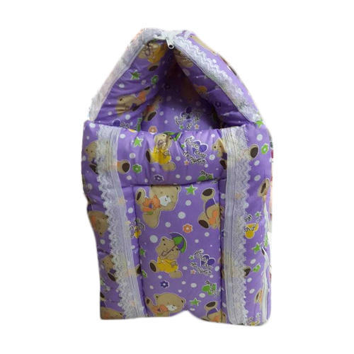 Printed Purple Baby Foldable Bedding Set