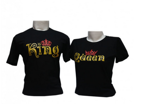 3a71f55d40 Girls Black WYO Couple Tees King Queen Round Neck, Size: Large, Rs ...