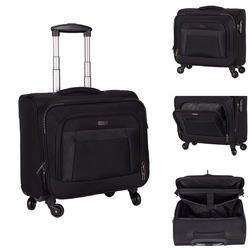 Black Polyester Executive Travel Cosmus Columbus 4 Wheel Trolley Laptop Bag, 01, Size: 17*15*10 (w*h*d)