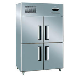 Silver Stainless Steel Four Door Refrigerator
