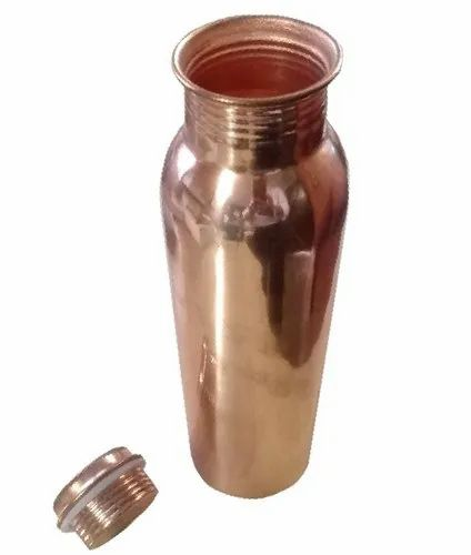Screw Cap Copper Water Bottle