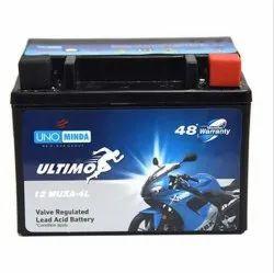 12 V 12MUX 14L Uno Minda Bike Battery, Warranty: 48 Months