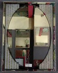 7 MM Designer Frame Mirror Glass