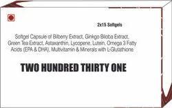 Softgel Capsule of Bilberry Extract Ginkgo Biloba ExtractGreen Tea Extract Astaxanthin Lycopene