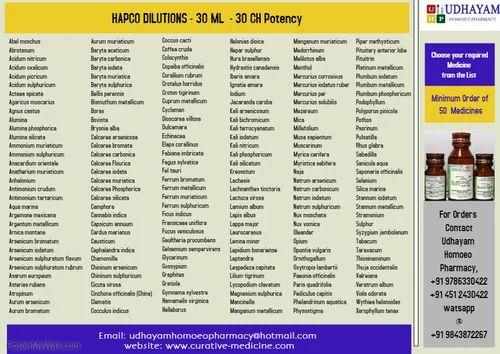 HOMOEOPATHIC MEDICINE - HAPCO - HAPCO - 30C - 30ml - Dilution