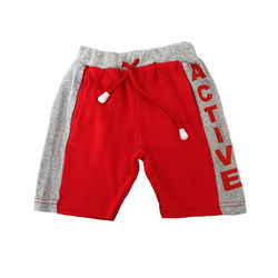 Magic Train Cotton Baby Red Shorts