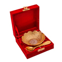 Gold Plated Bowl & Spoon Set