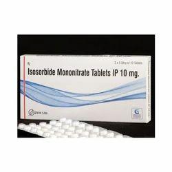 Genericart Medicine Medicine Grade Isosorbide Mononitrate Tablets, Packaging Type: Box