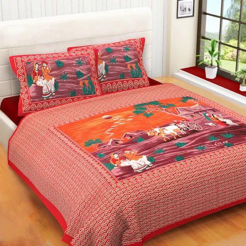 printed bed sheet set rs 425 set mustard designing india id