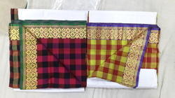 Chikankari Polyester Embroidered Cotton Sarees, With Blouse Piece