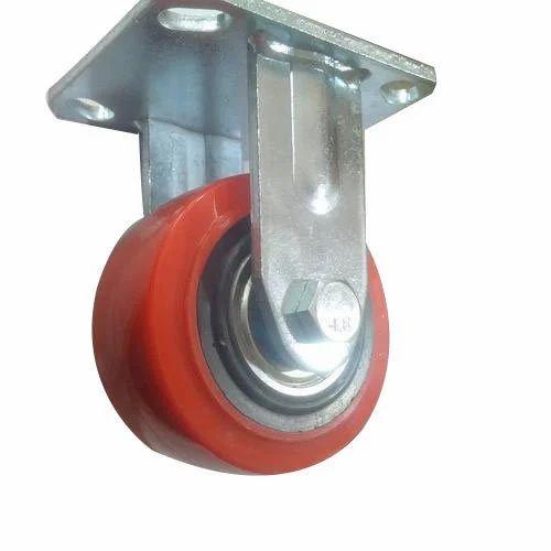 Red Polyurethane 4 Inches Longway PU Caster Wheel