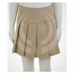 Short Cotton Girls School Skirt