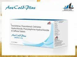 Aceclofenac, Paracetamol, Cetirizine Hydrochloride, Phenylephrine Hydrochloride & Caffeine Tablet