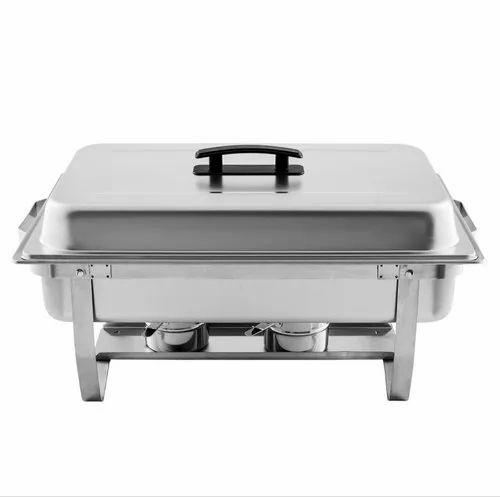 Rectangular Steel Chafing Dish, Capacity: 9 Ltrs
