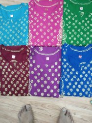 Cotton Pentex Yog Fancy Kurti