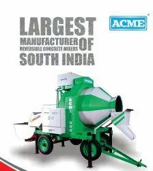 Reverse Drum Mixer Electric Engine ACME RM800 Reversible Concrete Mixer, Drum Capacity: 600 L, for Construction