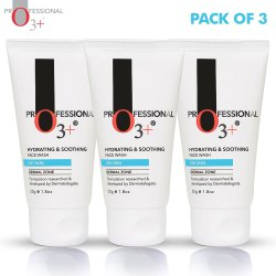 O3  Hydrating & Soothing Face Wash for Dry Skin (3x 50g)