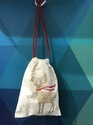 Christmas Drawstring Cotton Pouch